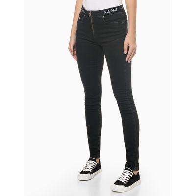 Calça Jeans Black Elástico Personal. Cós - Preto