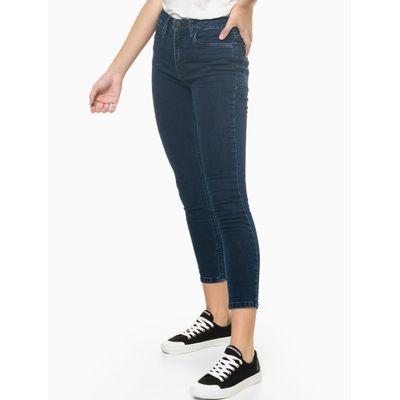 Calça Jeans Super Skinny Barra Abert Lat - Azul Marinho