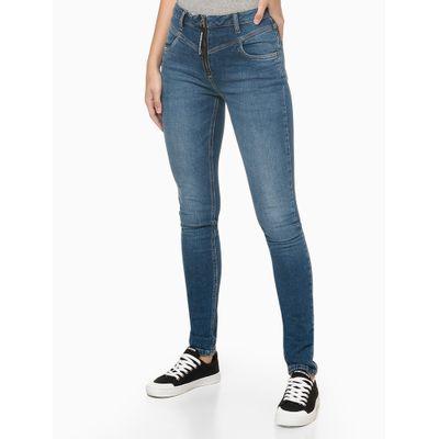 Calça Jeans Vista Zíper Puxador Personal - Azul Marinho