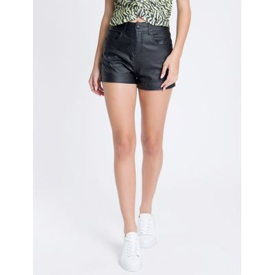 Shorts Liso Reto Beng 5 Pockets - Preto