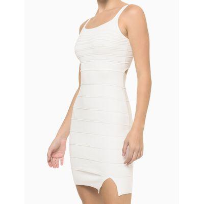 Vestido Tricot Midi Nerv Alc Abertura - Nude