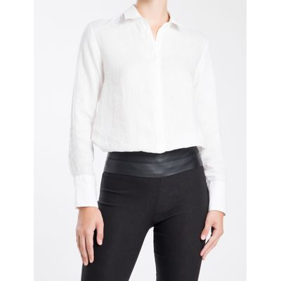 Camisa Linho Vista Lisa - Branco
