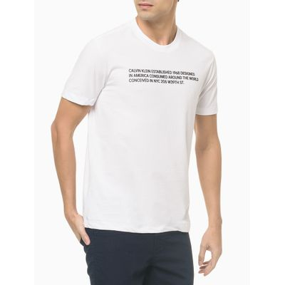Camiseta Mc Slim Silk Statement - Branco