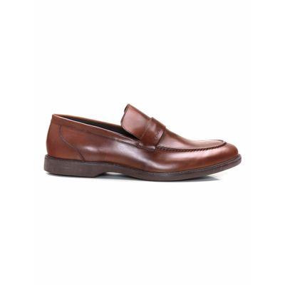 Sapato Social Loafer De Couro - Marrom