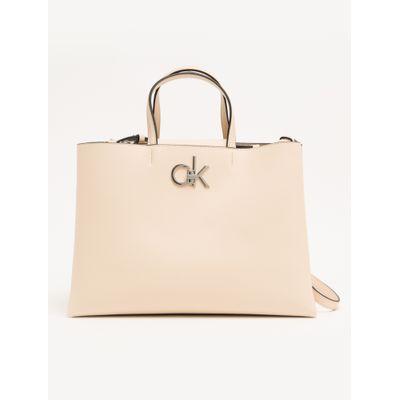 Bolsa Shopping Bag Alça Curta Ck - Nude