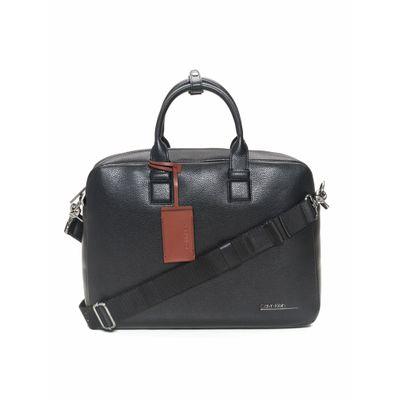 Bolsa Laptop Básica Em Pu Calvin Klein - Preto