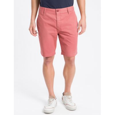 Bermuda Color Chino Curta Sarja Reat - Rosa Claro