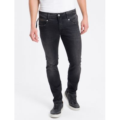 Calça Jeans Five Pockets Skinny Global - Preto