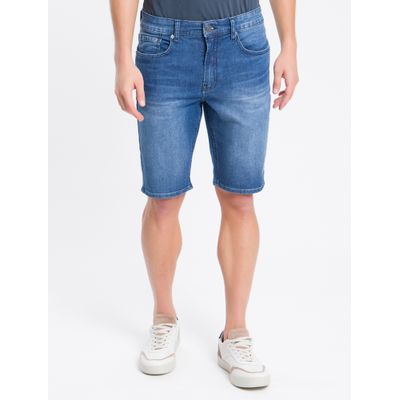 Bermuda Jeans Five Pockets - Azul Marinho
