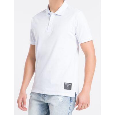 Polo Mc Regular Logo Piq Rolo Gola Ret - Branco