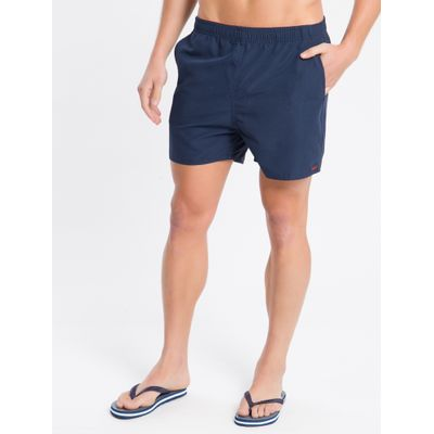 Shorts Dágua Regular Liso Micro Basico - Azul Marinho