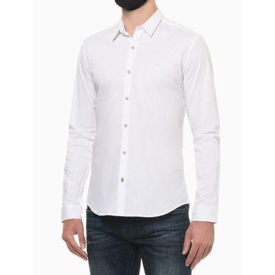 Camisa Ml Slim Liso Sbols N/D - Branco
