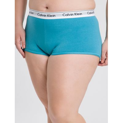 Short Modern Cotton Plus Size - Azul Turquesa