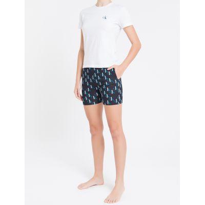 Pijama Infantil Bermuda Digital Ck One - Preto
