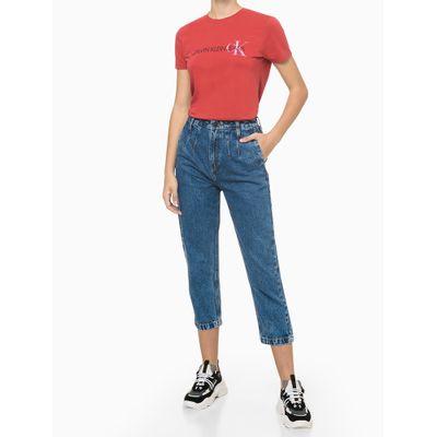 Blusa Feminina Logo no Peito Vermelha Calvin Klein Jeans