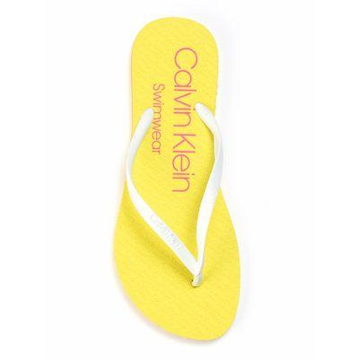Chinelo Swim Chinelo Logo Borracha - Amarelo