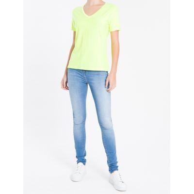 Camiseta Decote V Calvin Klein - Amarelo