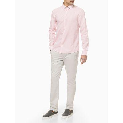 Camisa Ml Slim Fio 40/1 Xantê - Rosa Claro