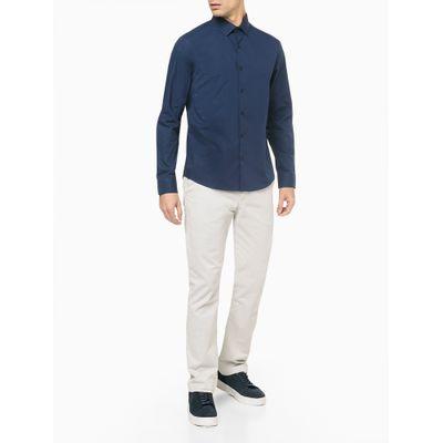 Camisa Reg Ml Cannes Fio 40/1 Stretch - Azul Marinho