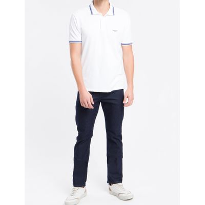 Calça Jeans Five Pockets Straight - Azul Marinho