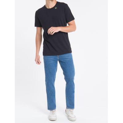Camiseta Mc Regular Ck1 Meia Reat Gc - Preto