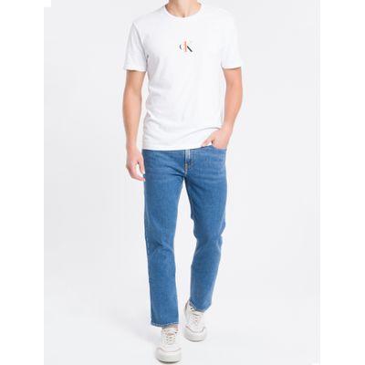 Camiseta Mc Regular Ck1 Meia Reat Gc - Branco
