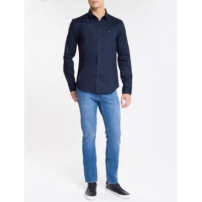 Camisa Ml Slim Liso Sbols N/D - Azul Marinho