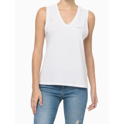 Blusa Sm Slim Reat Gv Logo Peito - Branco