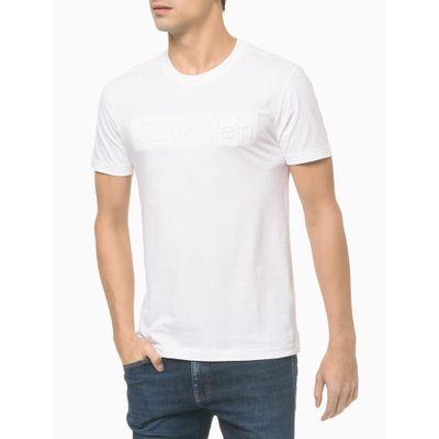 Camiseta Mc Slim Institucional Embossing - Branco