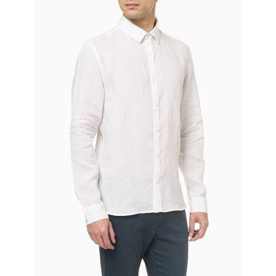Camisa Mg Regular Linen - Branco