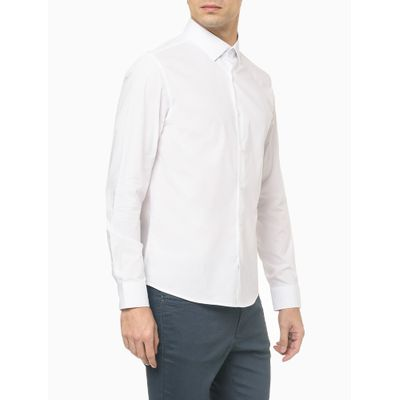 Camisa Reg Ml Cannes Fio 40/1 Stretch - Branco