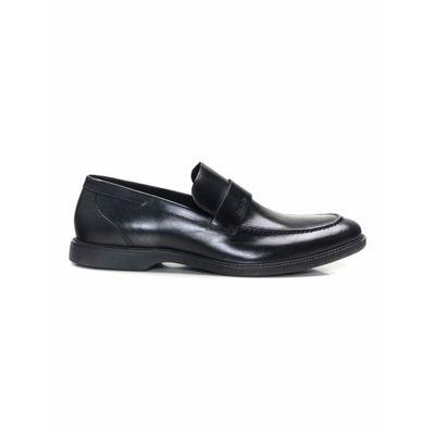 Sapato Social Loafer De Couro - Preto