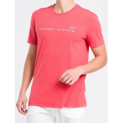 Camiseta Masculina Básica Jeri Vermelha Calvin Klein Jeans
