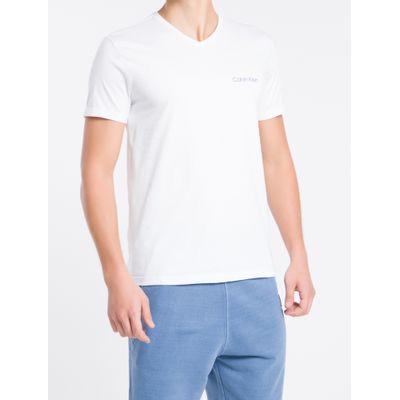 Camiseta Mc Slim Logo Meia Rolo Gv Swim - Branco