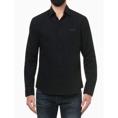 Camisa Ml Reg Liso Sbols N/D - Preto