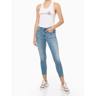 Blusa Regata Feminina Nadador CK Branca Calvin Klein Jeans