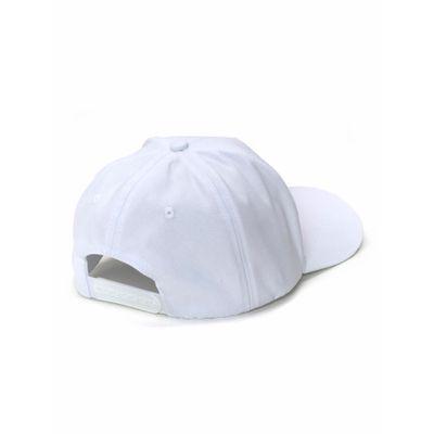 Bone Ckj Aba Cruva 5 Gomos Lona Logo Pla - Branco