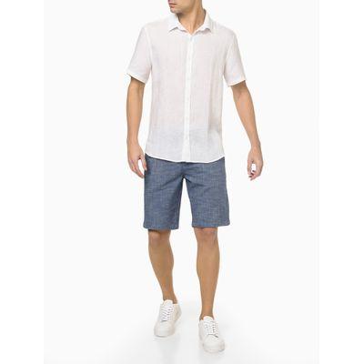 Camisa Mc Regular Cannes Linen - Branco