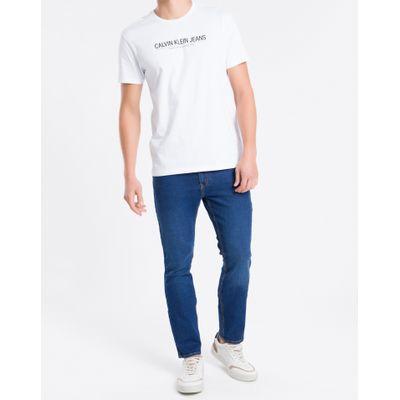 Camiseta Masculina Regular Logo Básico Branca Calvin Klein Jeans