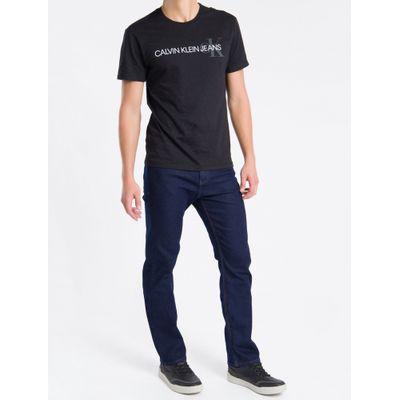 Camiseta Masculina Logo Flame Preta Calvin Klein Jeans