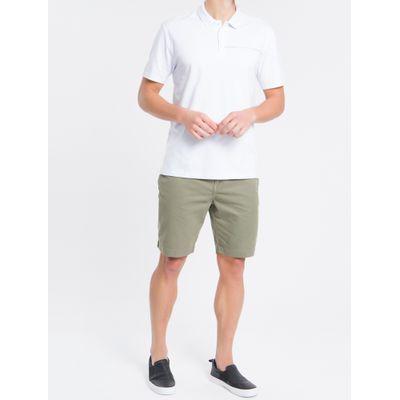 Bermuda Color Chino Curta Sarja Reat - Verde Militar