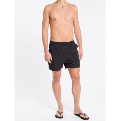 Shorts Dágua Regular Liso Micro Basico - Preto