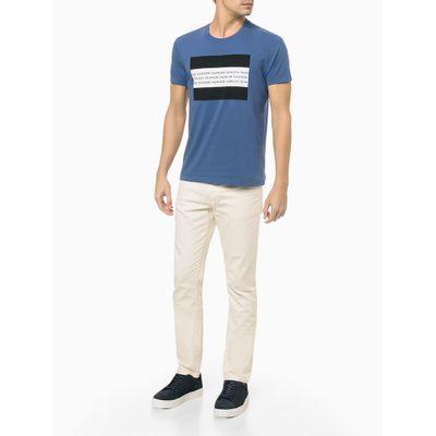 Camiseta Mc Slim Institucional Flag - Azul Médio