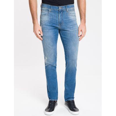Calça Jeans Masculina Skinny Sculpted Cintura Baixa Azul Médio Calvin Klein