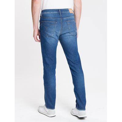 Calça Jeans Masculina Five Pockets Slim Cintura Baixa Azul Médio Calvin Klein