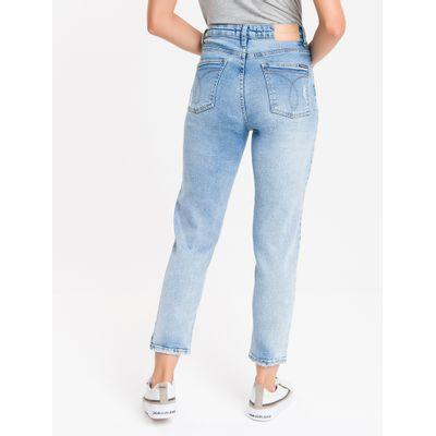 Calça Jeans Feminina Mom Cintura Super Alta Azul Claro Calvin Klein