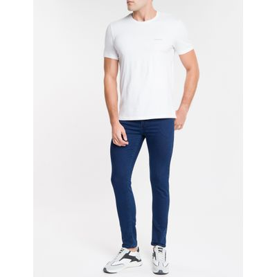 Calça Jeans Masculina Five Pockets Body Skinny Cintura Baixa Azul Marinho Calvin Klein