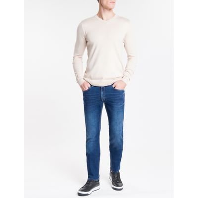Calça Jeans Masculina Five Pockets Skinny Azul Marinho Calvin Klein