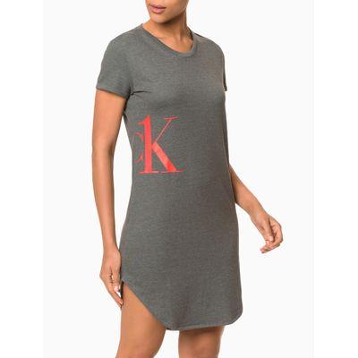 Vestido Moletinho Ck One Camo Loungewear - Mescla