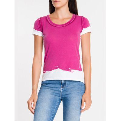 Blusa Feminina Espatulado Rosa Calvin Klein Jeans